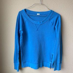 J. Crew side zipper cotton pullover